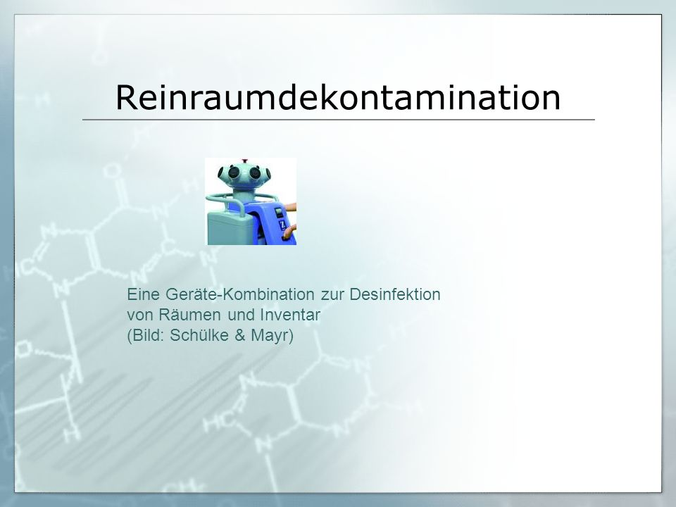 Reinraumdekontamination