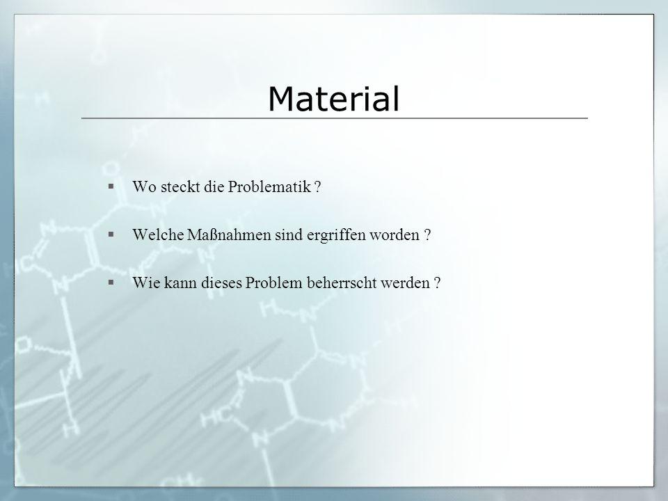 Material Wo steckt die Problematik