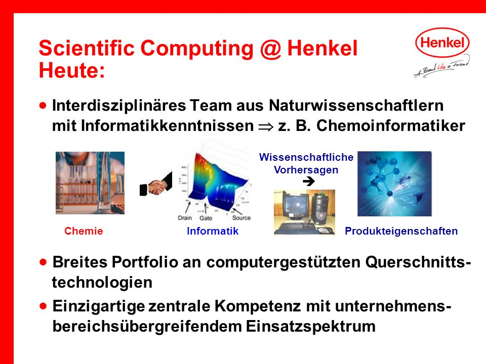 Scientific Computing @ Henkel Heute: