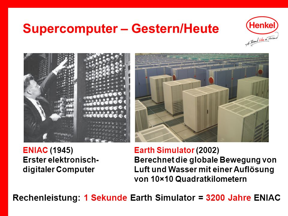 Supercomputer – Gestern/Heute