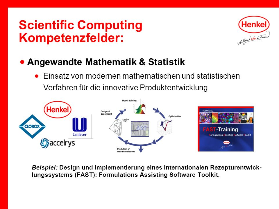 Scientific Computing Kompetenzfelder:
