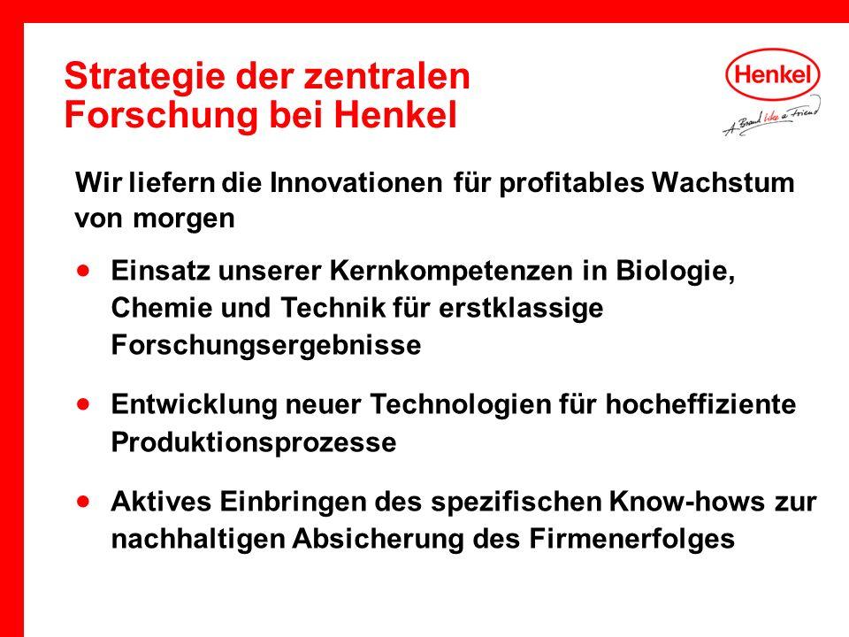 Strategie der zentralen Forschung bei Henkel