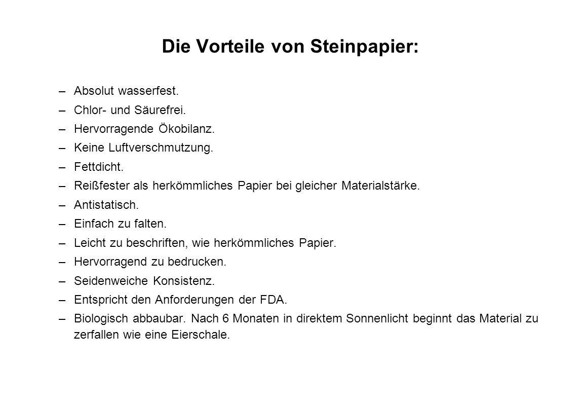 Die Vorteile von Steinpapier:
