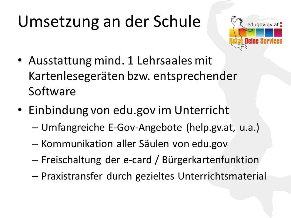 Umsetzung an der Schule