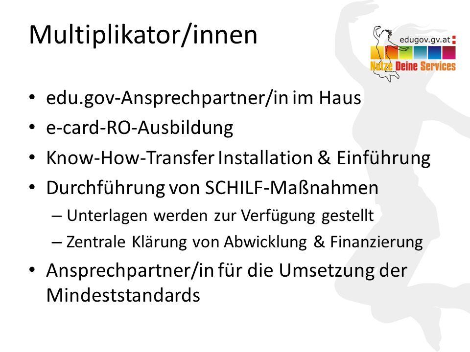 Multiplikator/innen edu.gov-Ansprechpartner/in im Haus