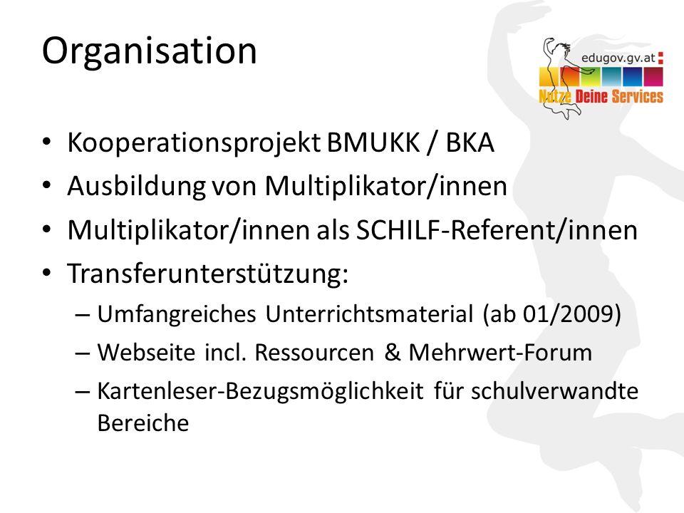 Organisation Kooperationsprojekt BMUKK / BKA