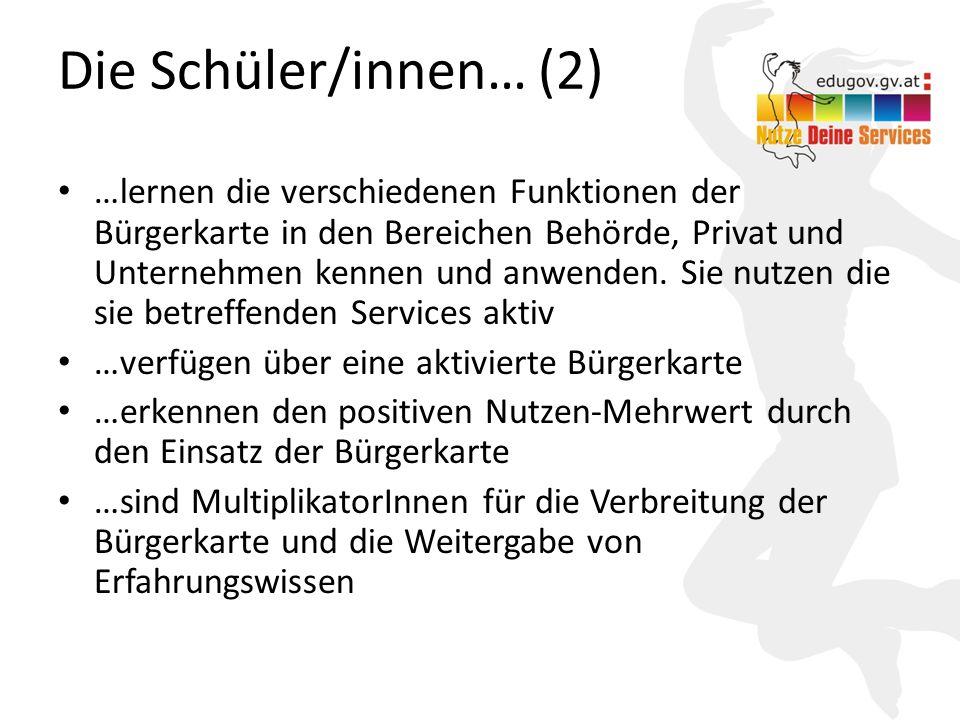 Die Schüler/innen… (2)