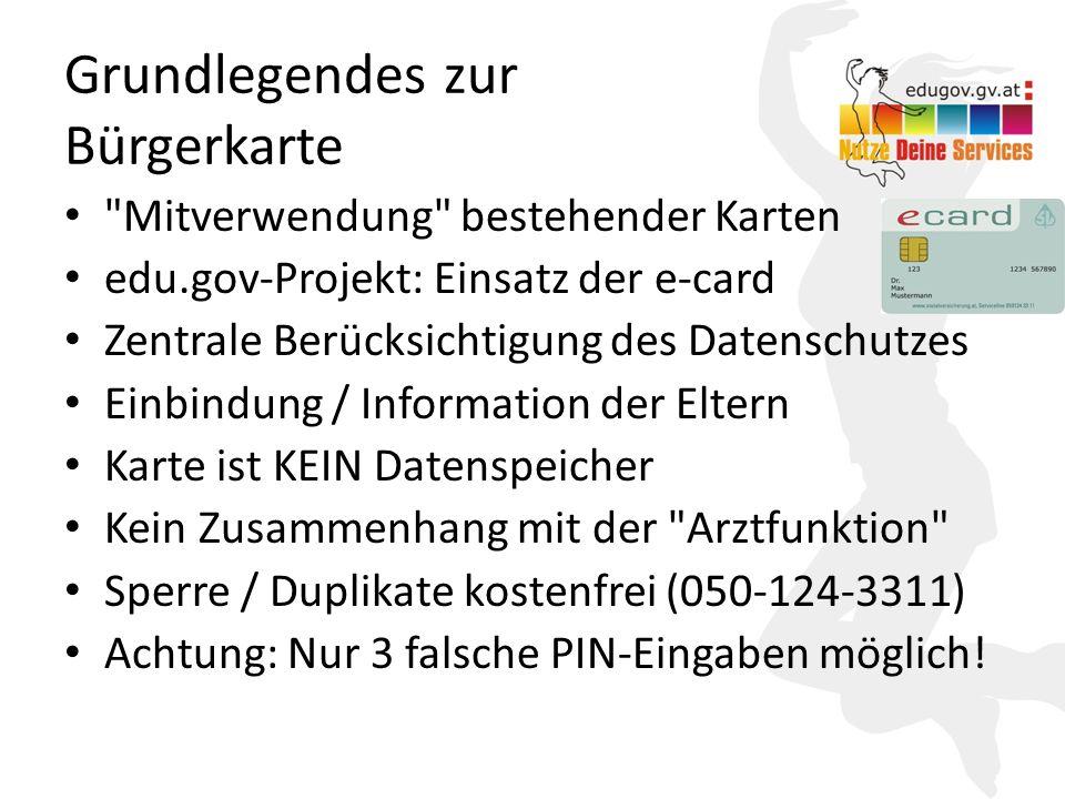 Grundlegendes zur Bürgerkarte