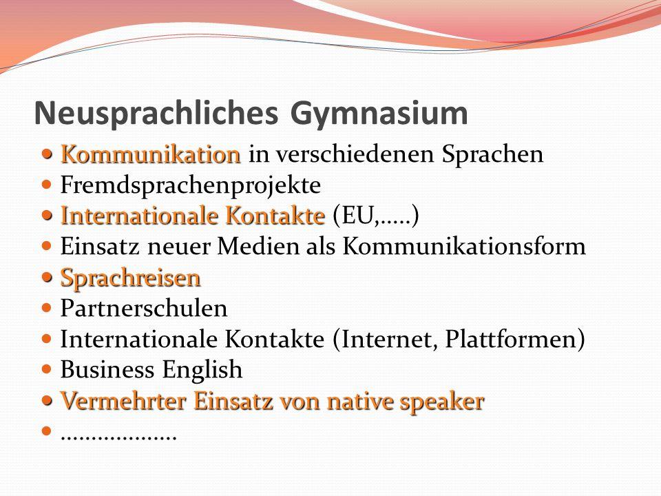 Neusprachliches Gymnasium