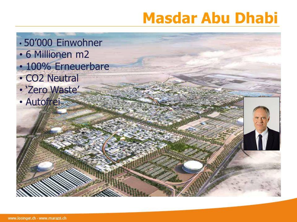 Masdar Abu Dhabi 6 Millionen m2 100% Erneuerbare CO2 Neutral
