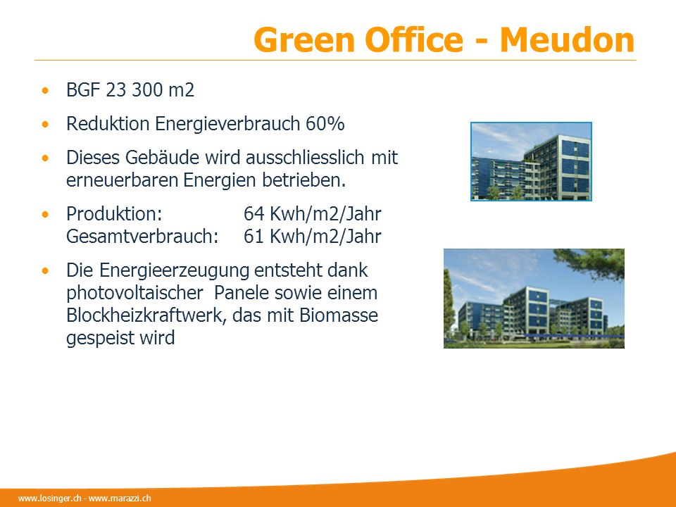 Green Office - Meudon BGF m2 Reduktion Energieverbrauch 60%