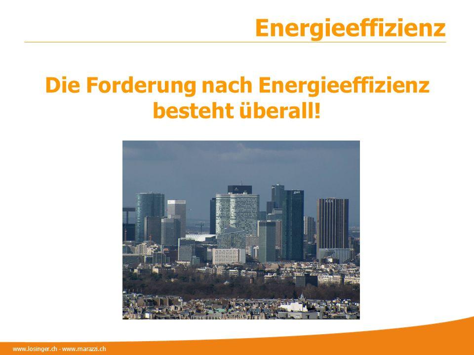 Die Forderung nach Energieeffizienz besteht überall!