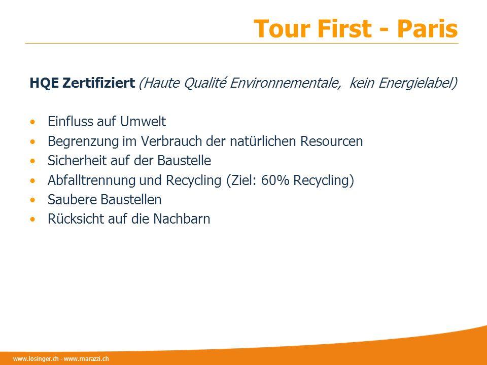 Tour First - Paris HQE Zertifiziert (Haute Qualité Environnementale, kein Energielabel) Einfluss auf Umwelt.