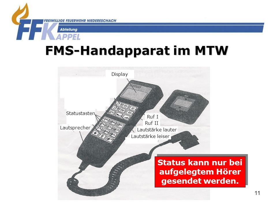 FMS-Handapparat im MTW