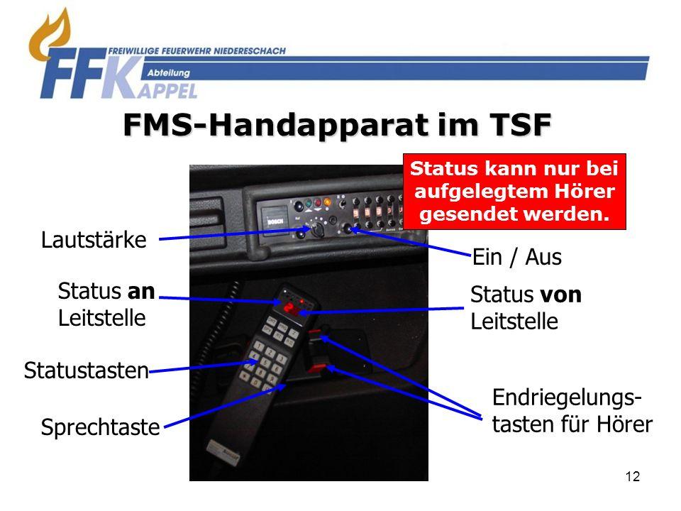 FMS-Handapparat im TSF