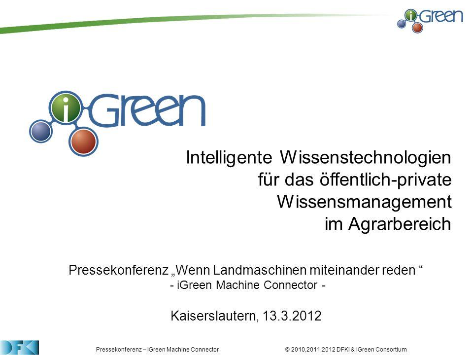 Intelligente Wissenstechnologien für das öffentlich-private Wissensmanagement im Agrarbereich