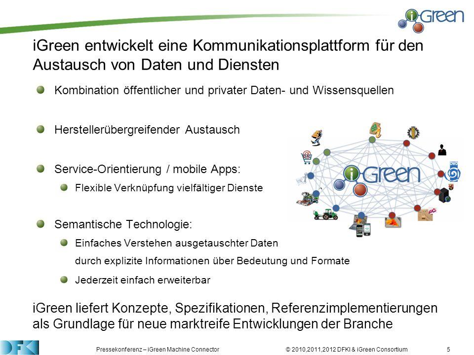 iGreen entwickelt eine Kommunikationsplattform für den Austausch von Daten und Diensten