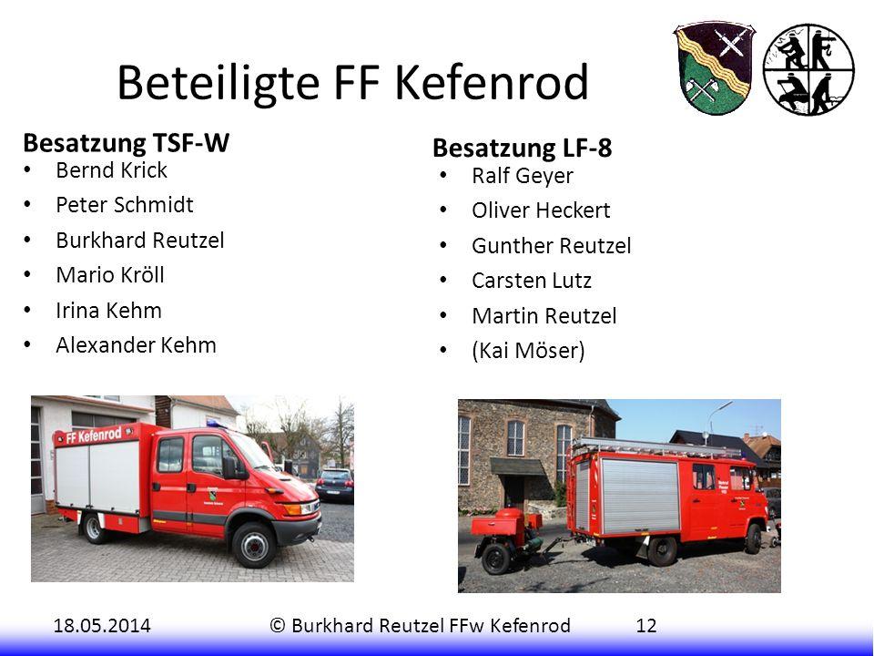 Beteiligte FF Kefenrod