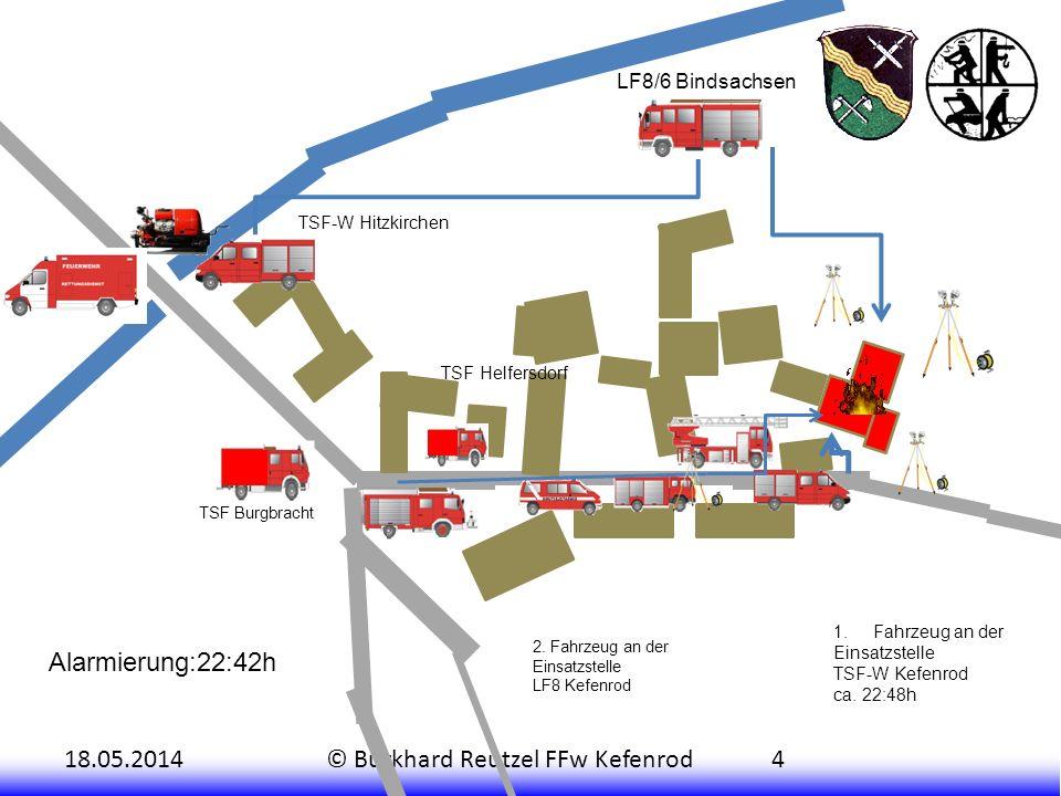 Alarmierung:22:42h LF8/6 Bindsachsen TSF-W Hitzkirchen TSF Helfersdorf