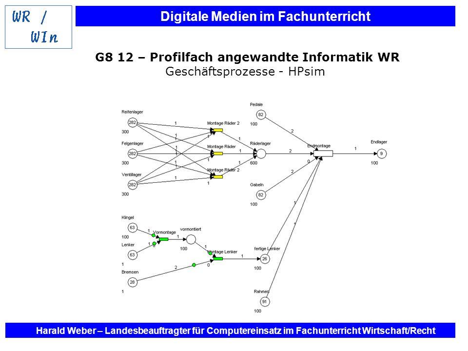 G8 12 – Profilfach angewandte Informatik WR Geschäftsprozesse - HPsim
