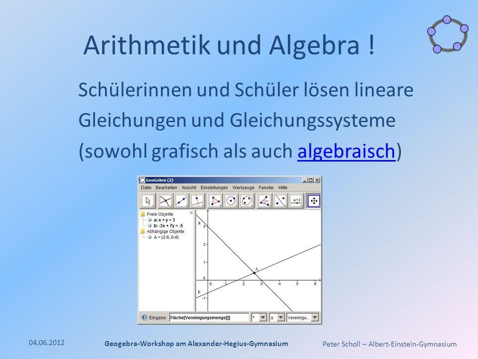 Arithmetik und Algebra !