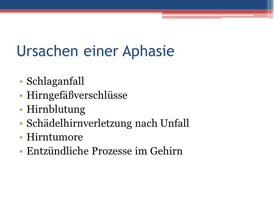 Ursachen einer Aphasie