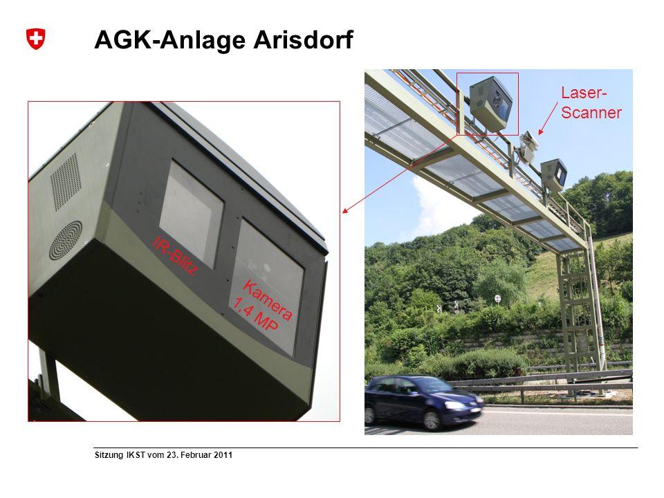 AGK-Anlage Arisdorf Laser- Scanner IR-Blitz Kamera 1,4 MP