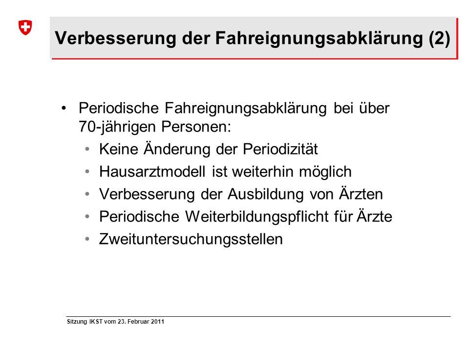 Verbesserung der Fahreignungsabklärung (2)