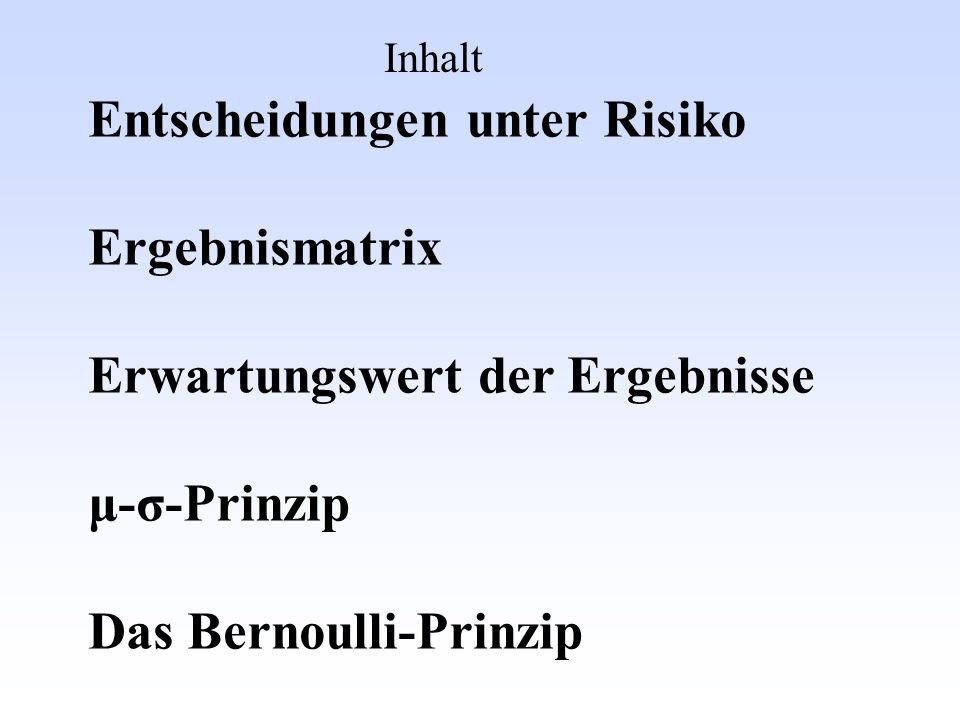 Das Bernoulli-Prinzip