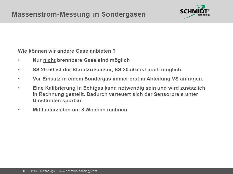 Massenstrom-Messung in Sondergasen