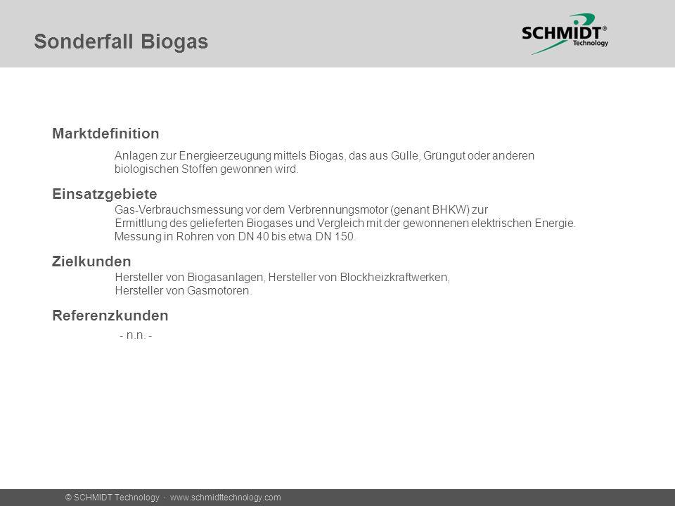 Sonderfall Biogas Marktdefinition