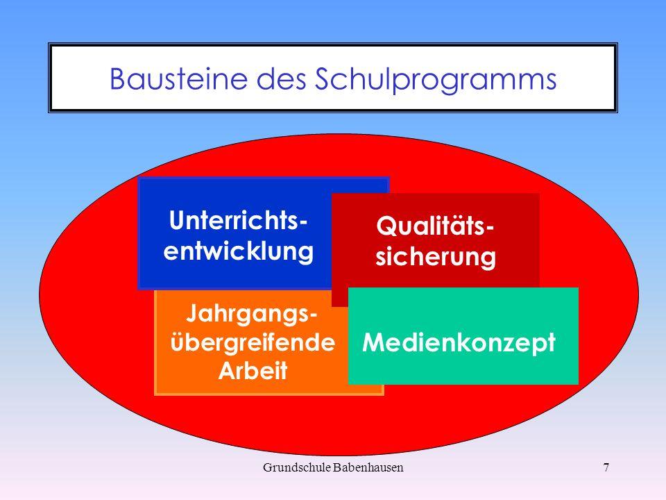 Bausteine des Schulprogramms