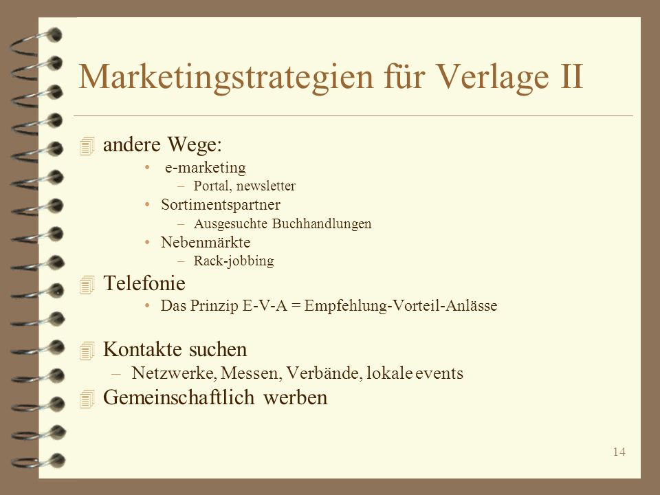 Marketingstrategien für Verlage II