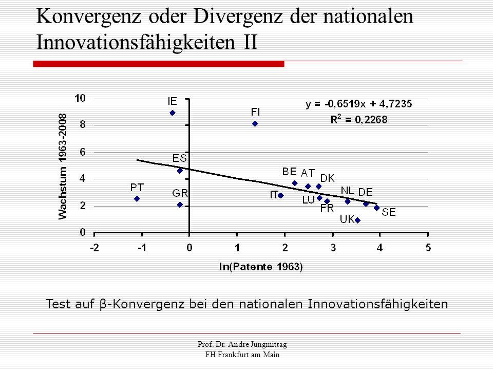 Konvergenz oder Divergenz der nationalen Innovationsfähigkeiten II