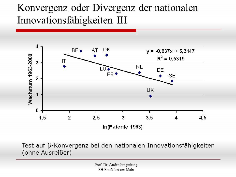 Konvergenz oder Divergenz der nationalen Innovationsfähigkeiten III