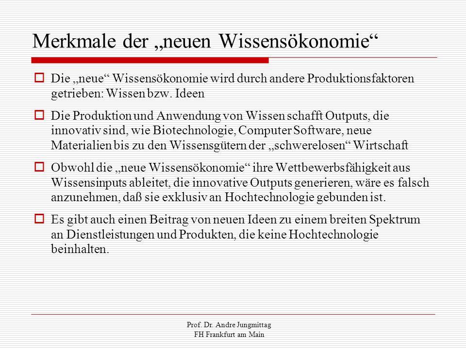 """Merkmale der """"neuen Wissensökonomie"""