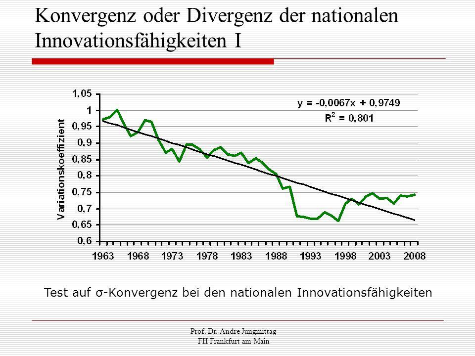 Konvergenz oder Divergenz der nationalen Innovationsfähigkeiten I