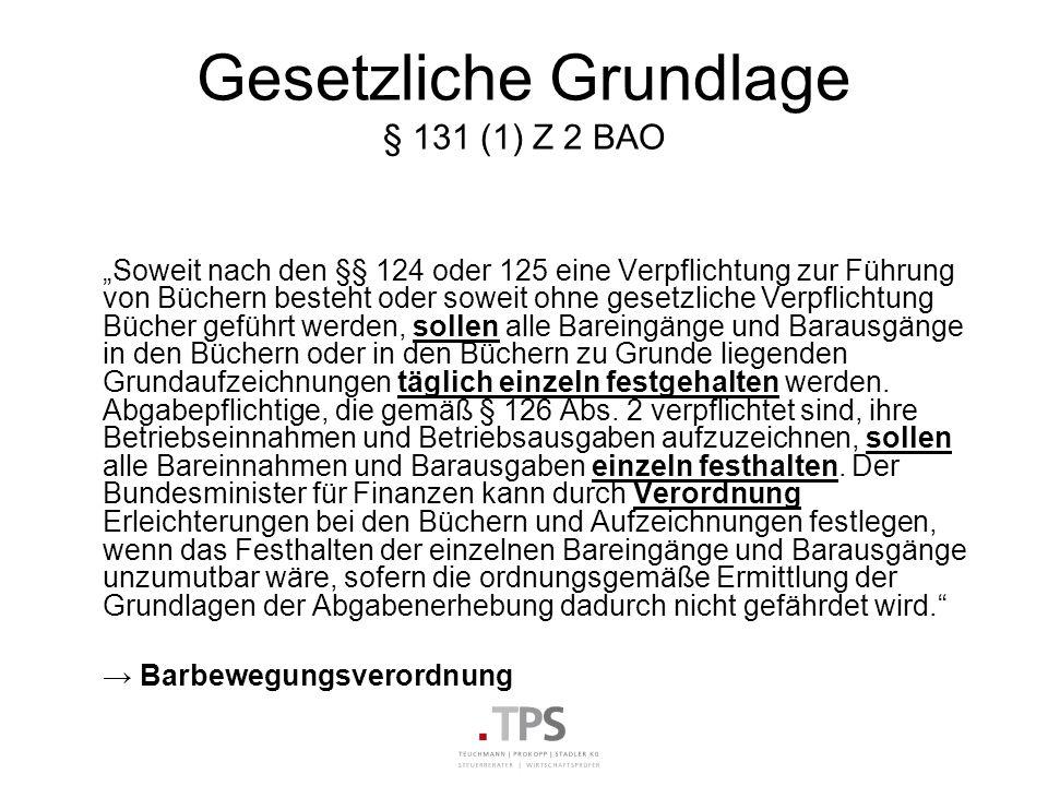 Gesetzliche Grundlage § 131 (1) Z 2 BAO