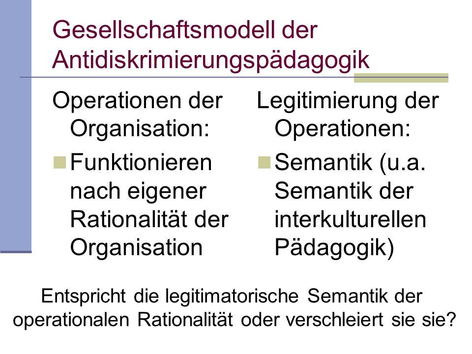 Gesellschaftsmodell der Antidiskrimierungspädagogik