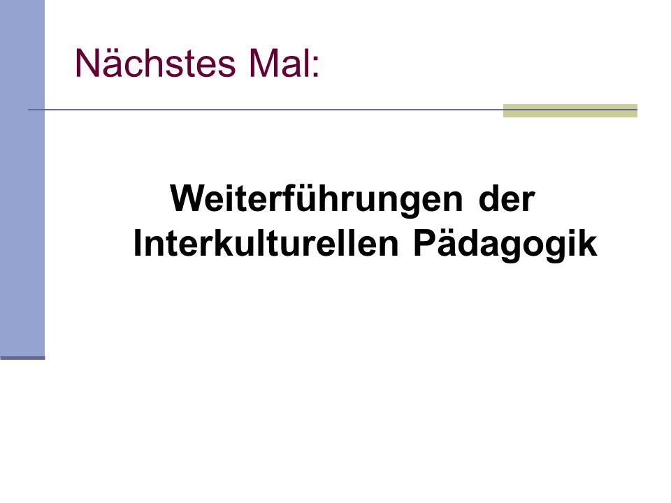 Weiterführungen der Interkulturellen Pädagogik