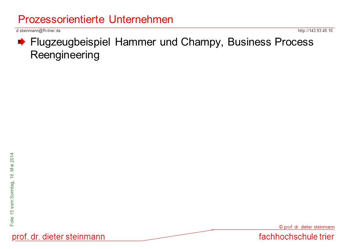 Prozessorientierte Unternehmen