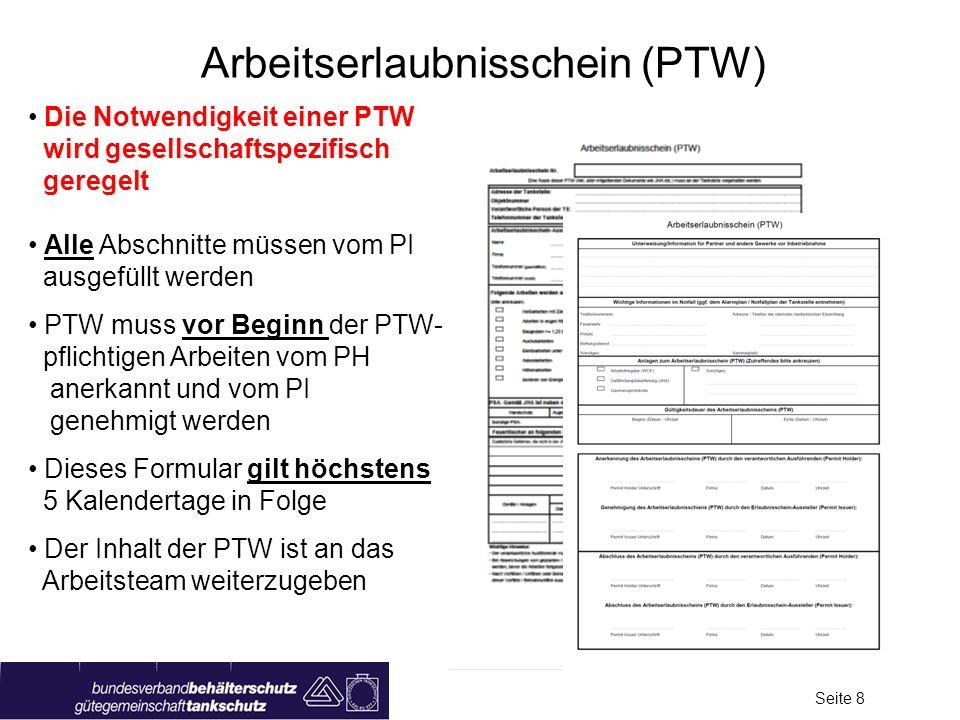Arbeitserlaubnisschein (PTW)