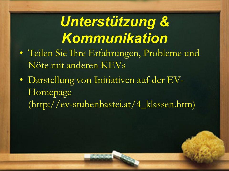 Unterstützung & Kommunikation
