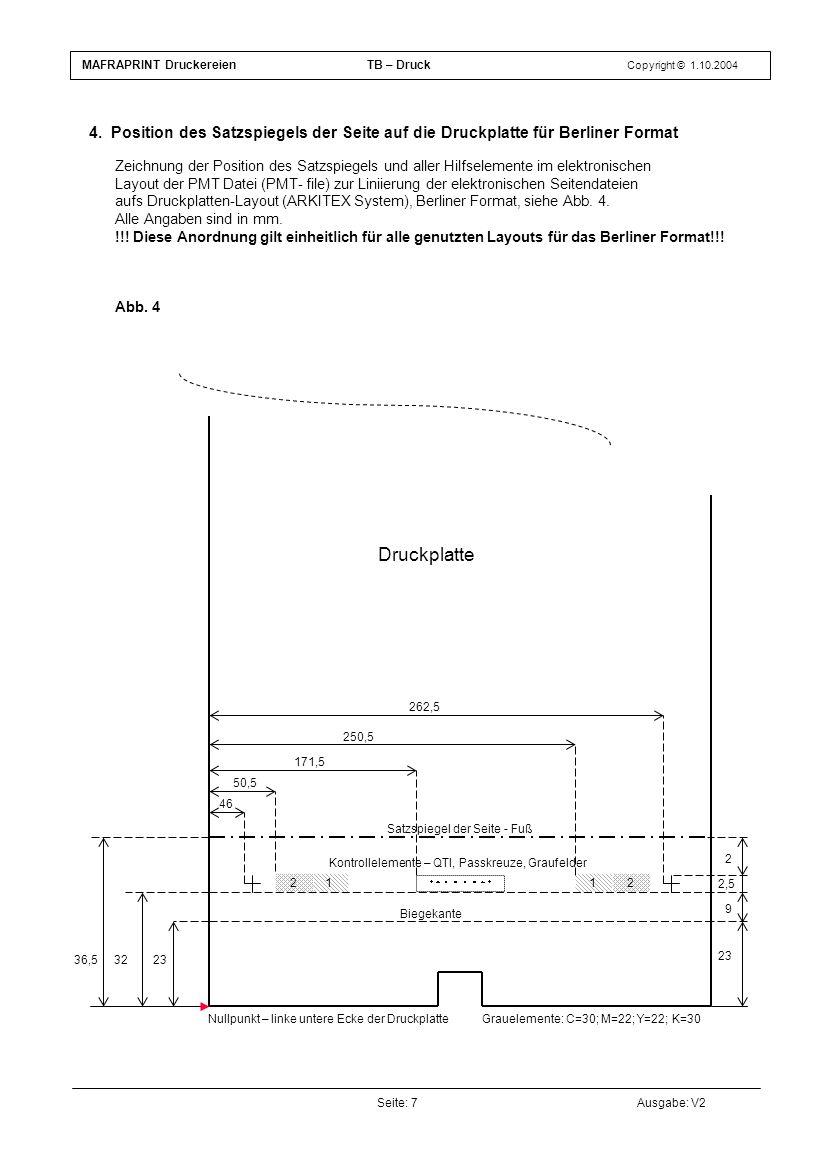 MAFRAPRINT Druckereien TB – Druck Copyright © 1.10.2004