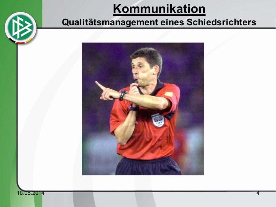 Kommunikation Qualitätsmanagement eines Schiedsrichters