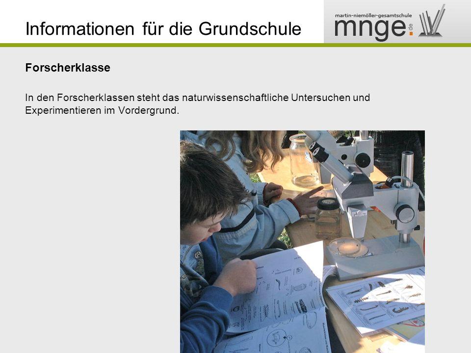 Informationen für die Grundschule