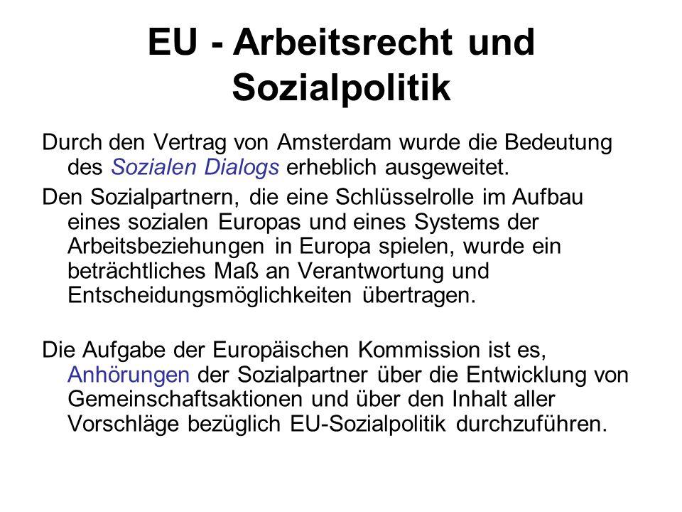 EU - Arbeitsrecht und Sozialpolitik