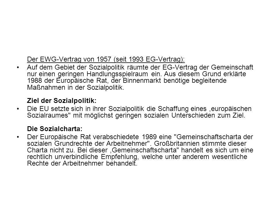 Der EWG-Vertrag von 1957 (seit 1993 EG-Vertrag):