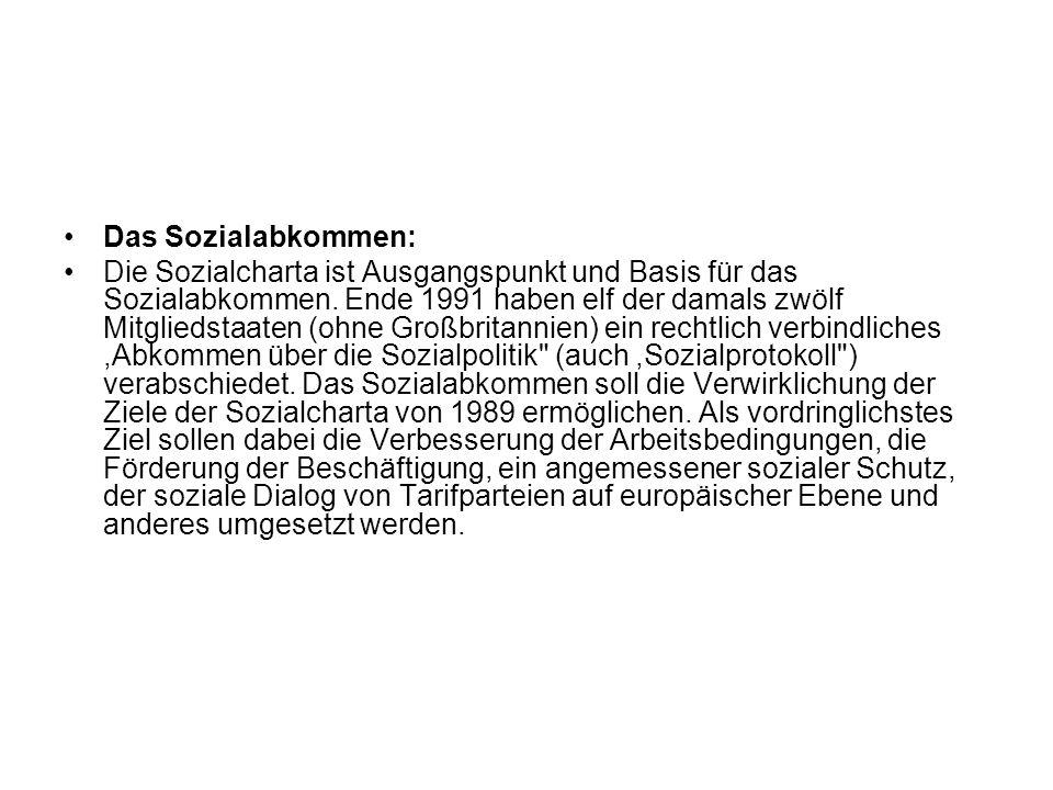 Das Sozialabkommen: