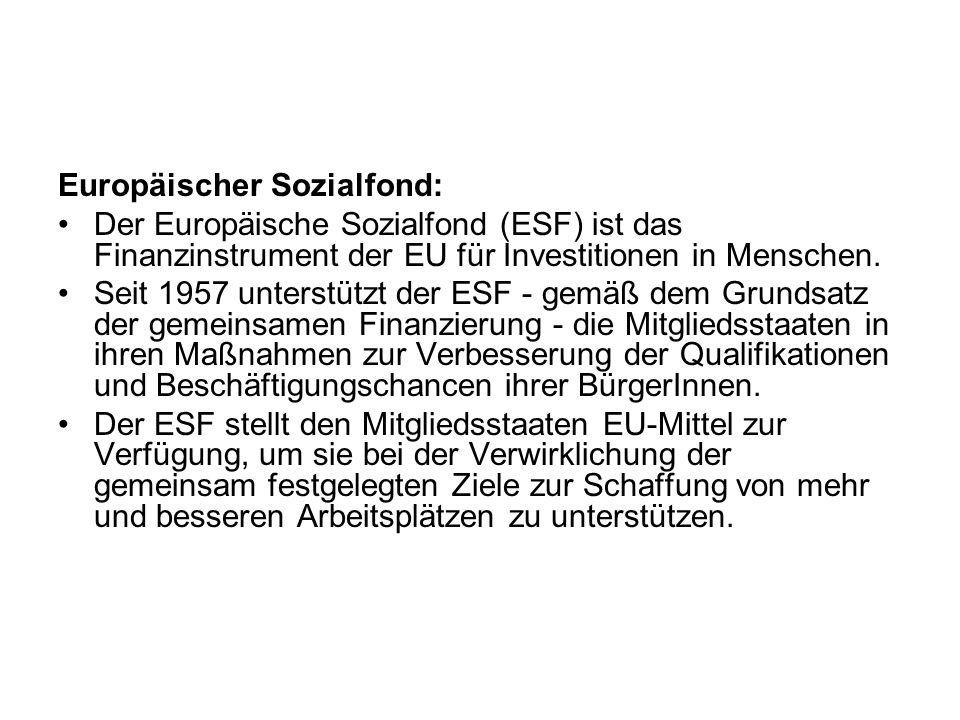 Europäischer Sozialfond: